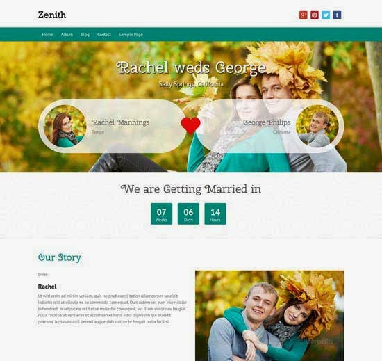Zenith free responsive WordPress theme