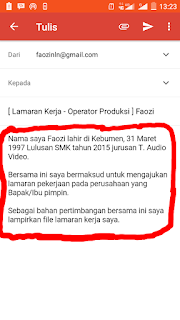 Contoh isi body email