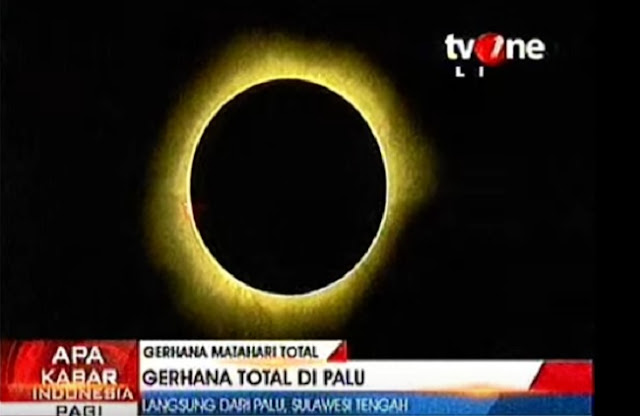 Subhanallah, Video Detik-Detik Gerhana Matahari Total Ini Bikin Merinding