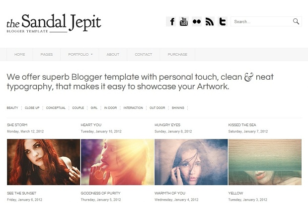 Best Blogger Photography templates
