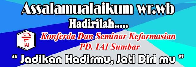 Seminar Sehari dan Pengenalan Organisasi Profesi IAI, Ikatan Apoteker Indonesia, IAI Sumbar, PD IAI Sumbar, Seminar Kefarmasian, Apoteker, Farmasi, tenaga teknis kefarmasian,  Kuliah farmasi, Farmasi Indonesia
