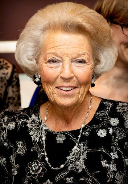 Dutch Princess Beatrix attended a concert of The European Union Youth Orchestra at Concert Building