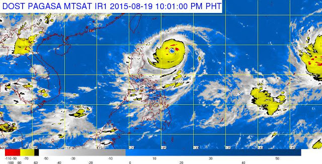 PAGASA: Typhoon Ineng August 19, 2015 update