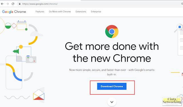 Cara Pasang Dan Menggunakan Browser Chrome Di Komputer Maupun Laptop  - Cintanetworking.com