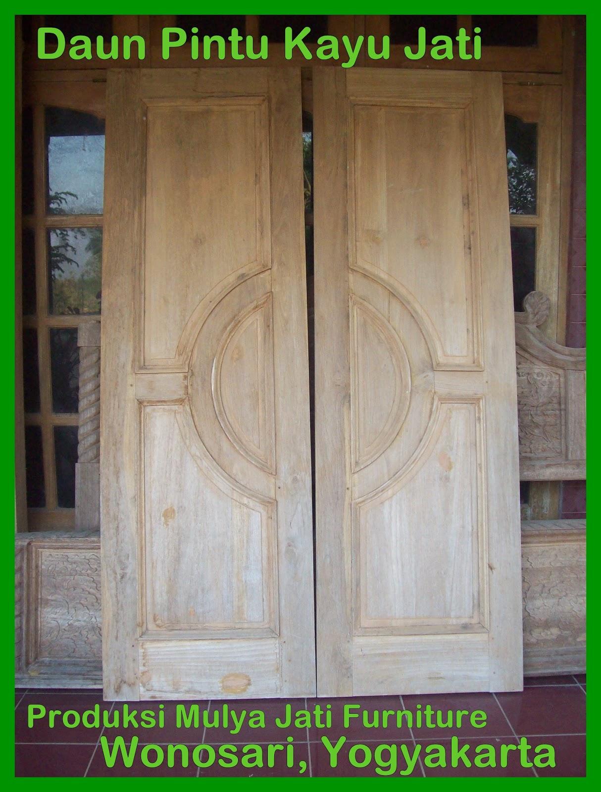 Mulya Jati Furniture Daun Pintu Kayu Jati Ukuran Besar