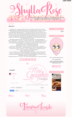 Design Template Blog Responsif Shylla Rose