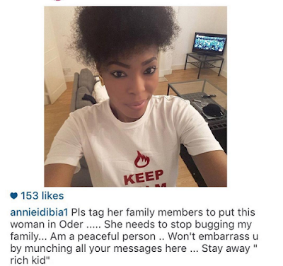 No More Baby Drama! Annie Idibia Warns Lady To Stay Away From Her Family