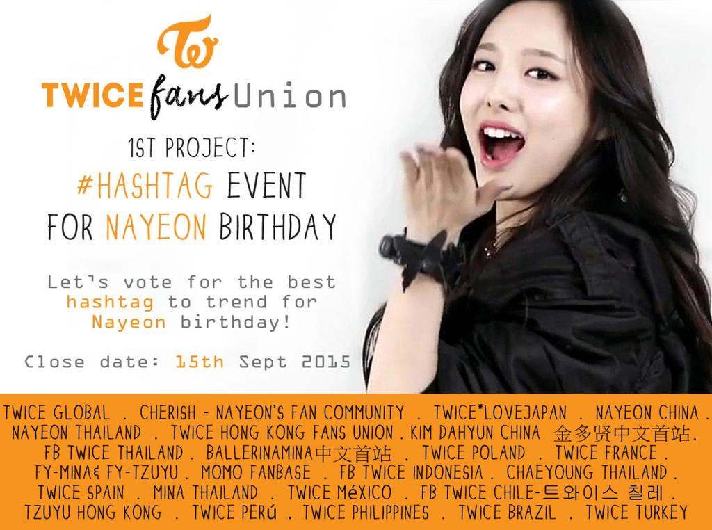 Vote for Nayeon Birthday Hashtag before Sept 15th! | TWICE