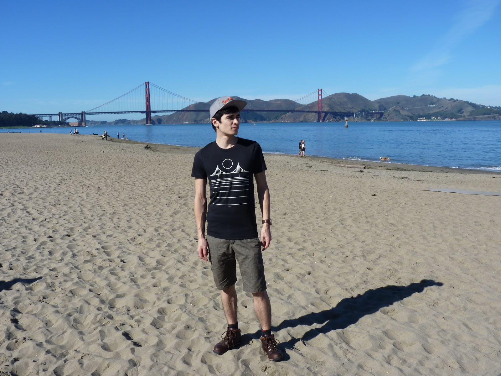Devant le Golden Gate Bridge à San Francisco