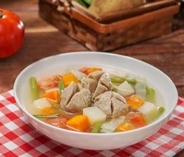 Image result for sup koktail bakso makaroni