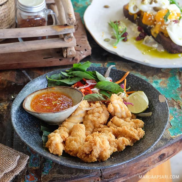 Fried Squid La Brisa Beach Club, Canggu Bali