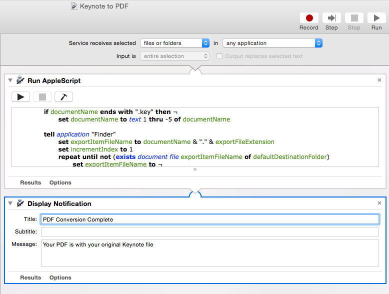 The FishBowl: >_automatic: Automator Workflows