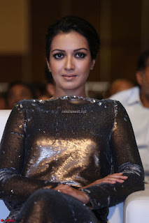 Actress Catherine Tresa in Golden Skin Tight Backless Gown at Gautam Nanda music launchi ~ Exclusive Celebrities Galleries 003.JPG