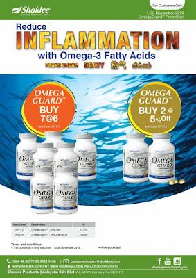 Promosi Shaklee November 2018, Suplimen, Makanan Tambahan, Omega Guard, DHA, Omega3, minyak ikan, fish oil, kolesterol, stroke,