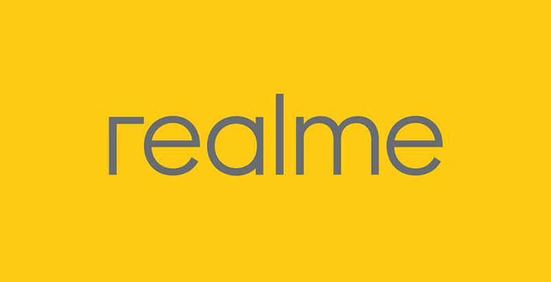 The new yellow logo of Realme