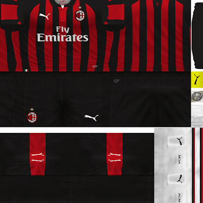 PES 6 Kits AC Milan Season 2018/2019 by FacaA/Ngel