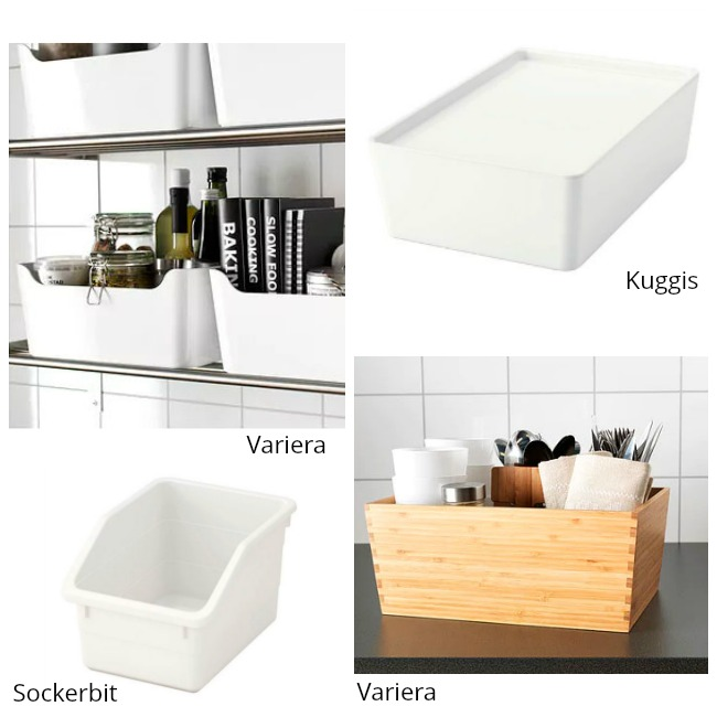 Cajas de organización Ikea para armarios cocina