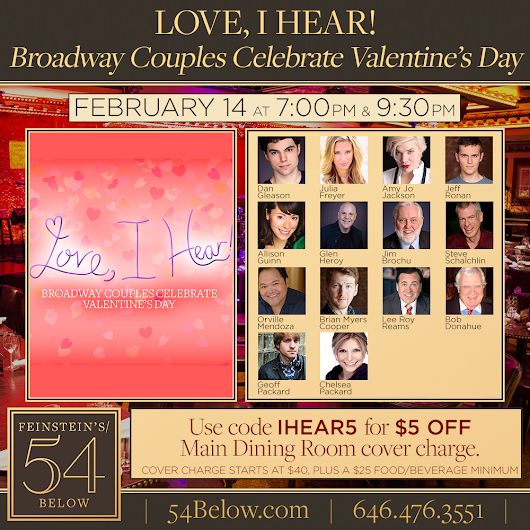 Jim & Steve at 54 Below on Valentine's Day.