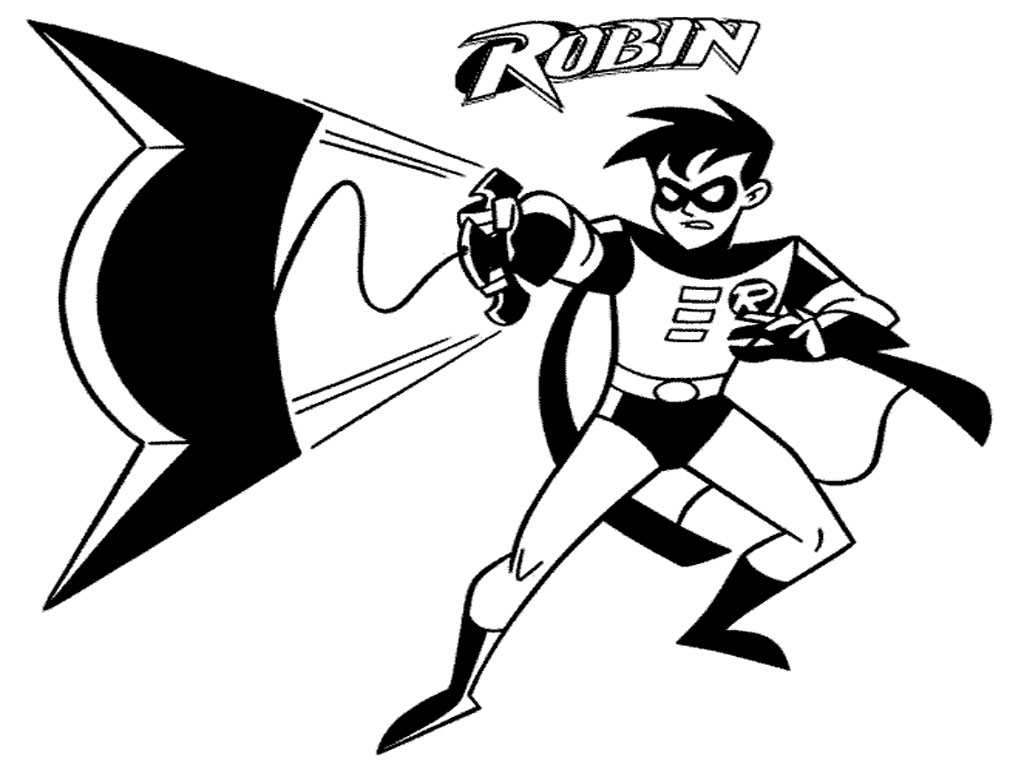 coloring pages batman robin - photo #28