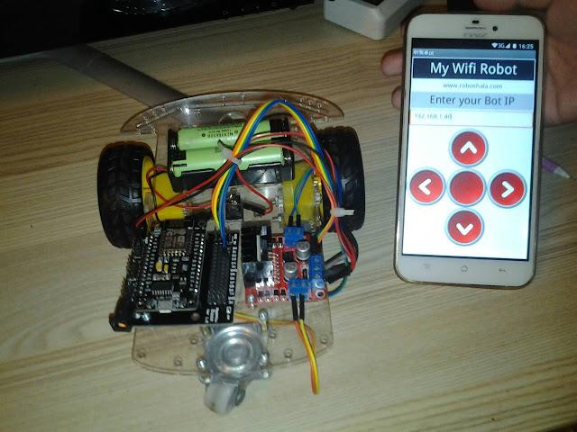 โปรเจค หุ่นยนต์ NodeMCU V3 + WiFi + แอพแอนดรอยด์