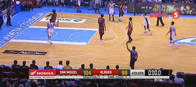 San Miguel eliminates Alaska, 104-99 (REPLAY VIDEO) Semis Game 4 / July 22