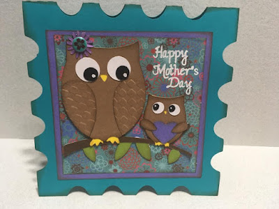 Owl Mother's Day Postage Stamp Card