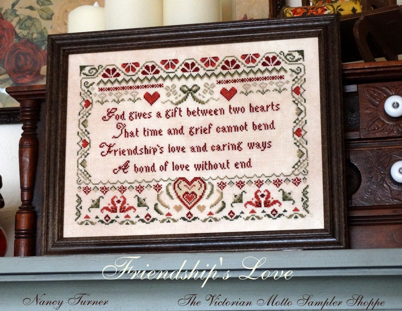 The Stitching Parlour motto sampler style counted cross stitch chart