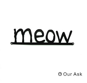 MEOW Scripts Metal Wall Art