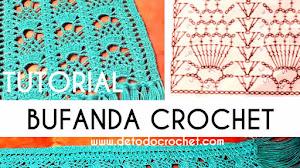 Atrévete a Tejer tu Bufanda de Piñas Crochet / Tutorial para zurdos y para diestos