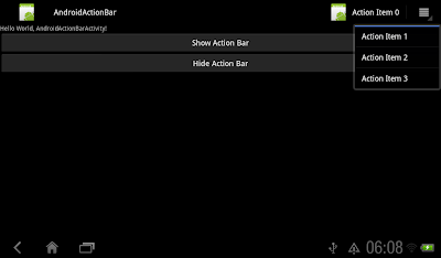 Create ActionBar using XML