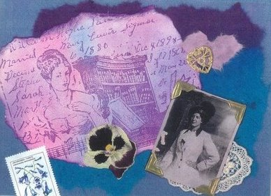 How to make a collage card