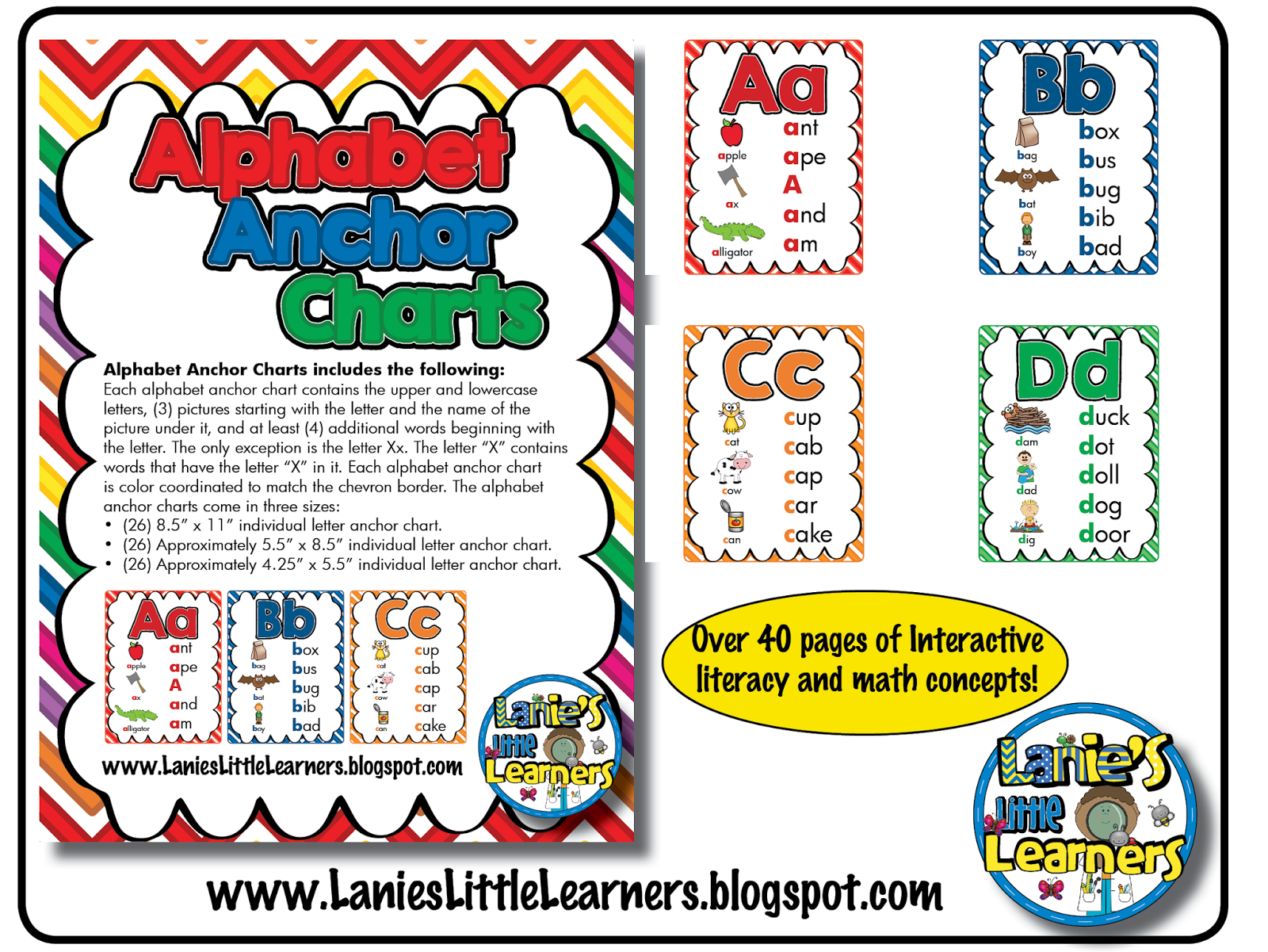 Lanie S Little Learners Alphabet Anchor Charts Letter