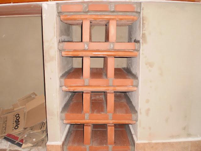 El blog de la elena un blog dulce divertido y entretenido botellero de obra botellero r stico - Botelleros rusticos ...