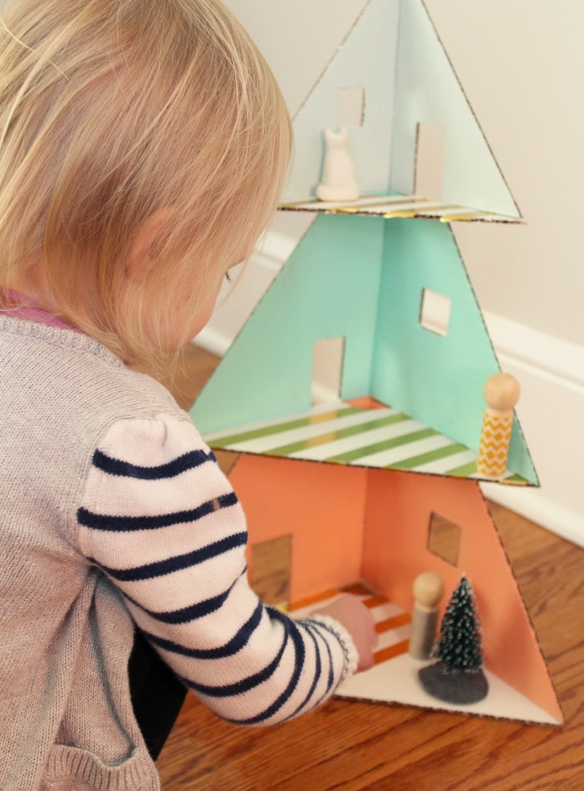 Hoping For Rocketships Cardboard Christmas Tree House