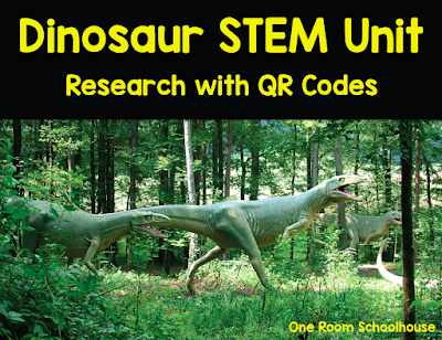 Dinosaur STEM unit with integrated math, research, writing, and science.