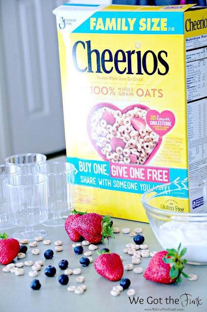 #GiveABox, ad, Mom, Fruit Parfait, Peanut Butter Chocolate Chip Breakfast Bars, Honey Nut Cheerios™ Cream Cheese Cinnamon Muffins, Recipes,