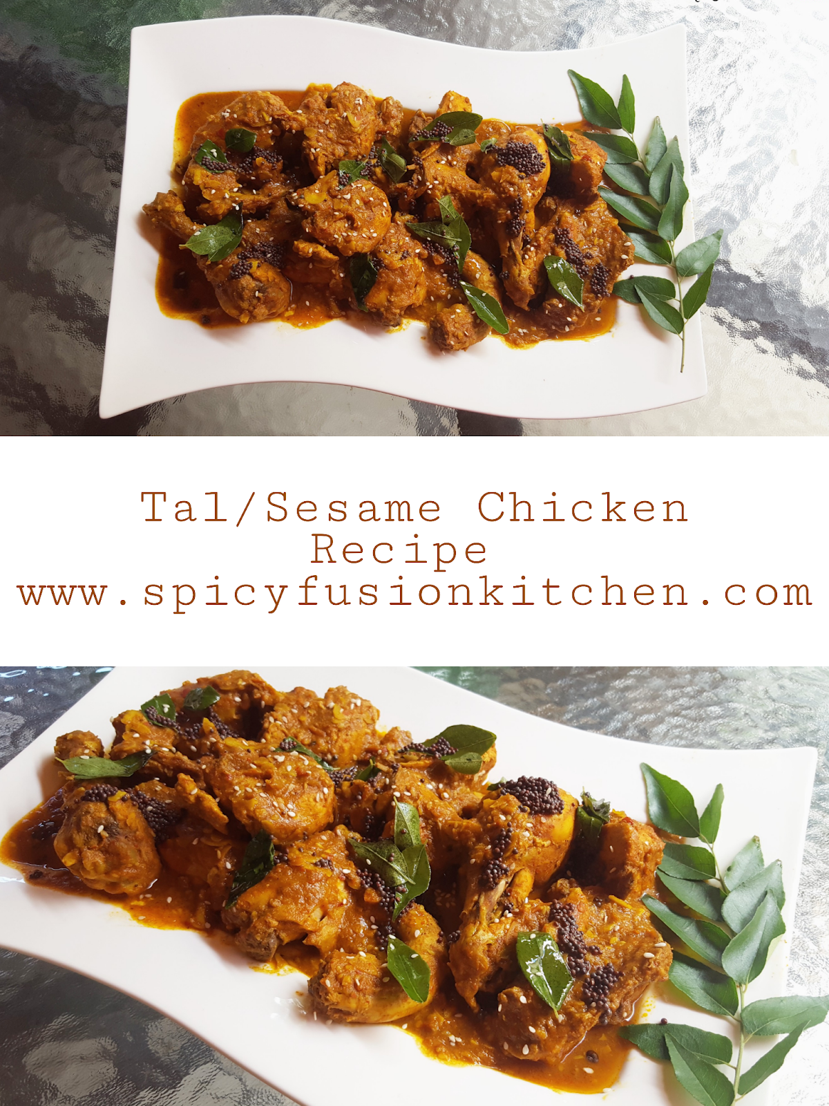 Tal/Sesame Seed Chicken Recipe - Spicy Fusion Kitchen