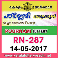 14.05.2017 POURNAMI Lottery Results RN 287