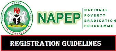 NAPEP Application Portal 2018/2019 - National Poverty Eradication Programme Registration Guidelines