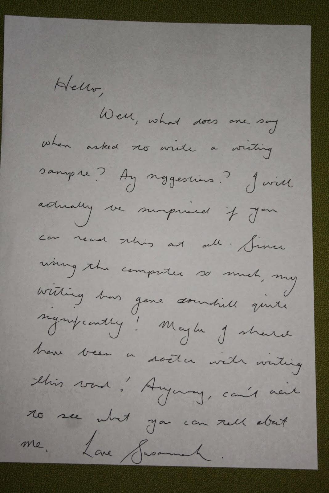 Yze My Handwriting