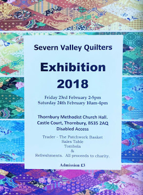 Severn Valley Quilters 2018 Exhibition 23rd-24th February 2018, Thornbury, UK