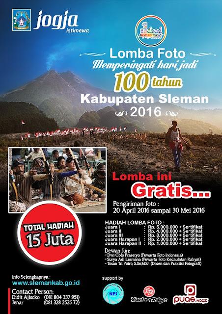 LOMBA FOTO dan Event Dalam Rangka Perayaan 100 tahun Kabupaten Sleman