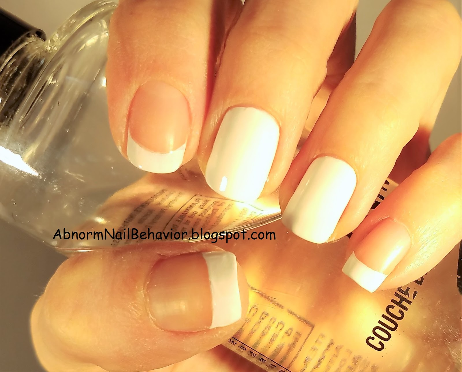 Abnorm Nail Behavior | Nail Art : Monarch Half French Nails