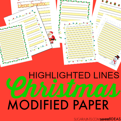 Highlighted lines modified paper for Christmas