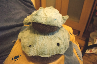Big whale and little whale plushies