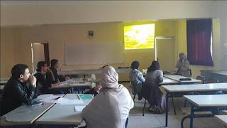 """نادي الصحة والبيئة بثانوية أيت باها يواصل مشواره في ورشات """" الصحفيون الشباب من أجل البيئة"""""""