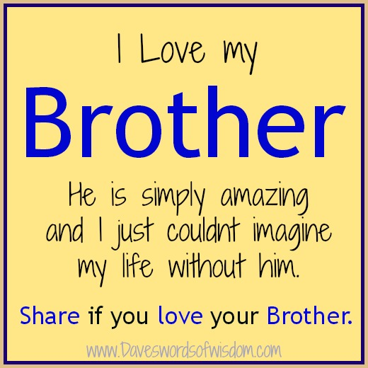Love My Brother Quotes...