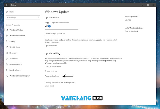 Tắt, trì hoãn windows update trên  Windows 10 Ver 1703 Creators Update