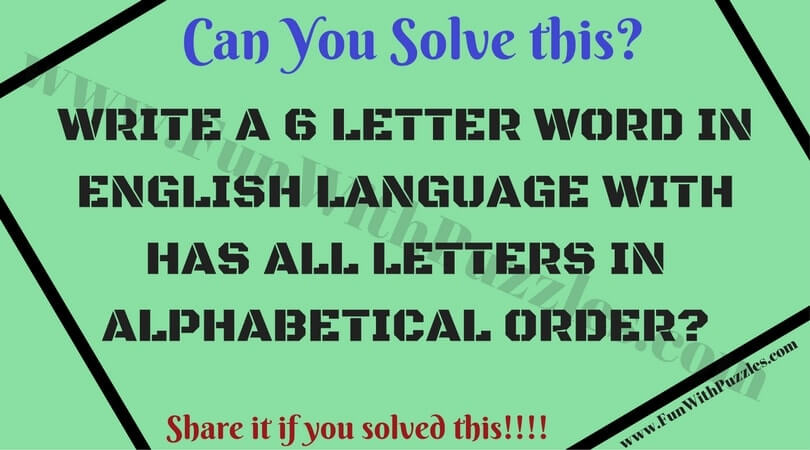 English Word Brainteasers with Answers to Test your Mind ...