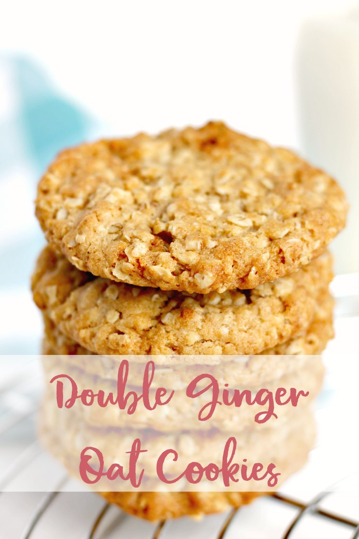 Double Ginger Oat Cookies